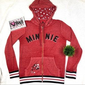 Official Disney Minni Mouse Zip Up Sweater